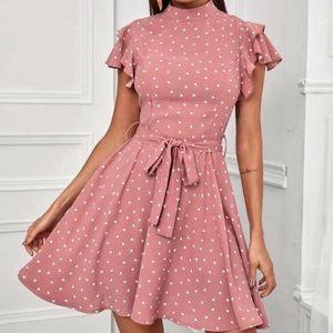 SHEIN blush pink heart dress 💕